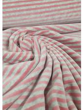 grijs en roze gestreept - nicky velours - oeko tex