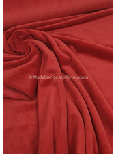 M soft red - nicky velours
