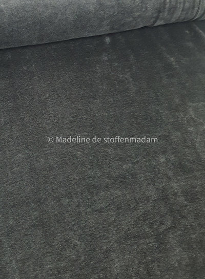 melee donker grijs - nicky velours