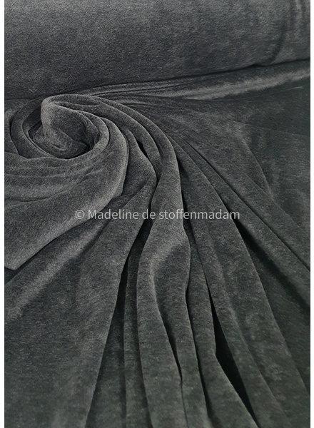 M melee donker grijs - nicky velours