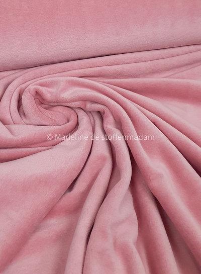 zacht roze nicky velours
