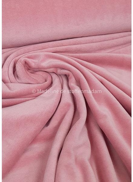 M zacht roze nicky velours
