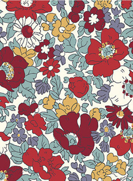 LIBERTY LONDON winter flower show cosmos bloom - cotton