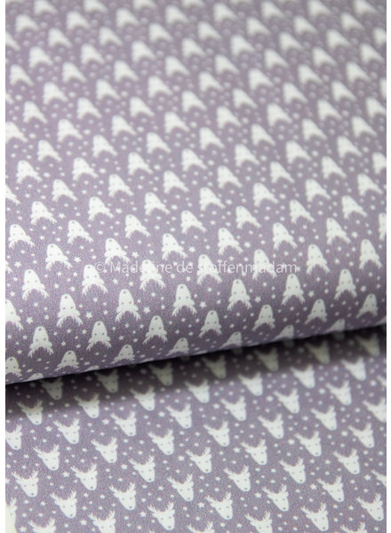 Swafing grey deer heads - cotton