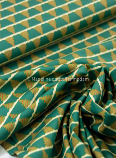 Swafing green merry christmas - cotton