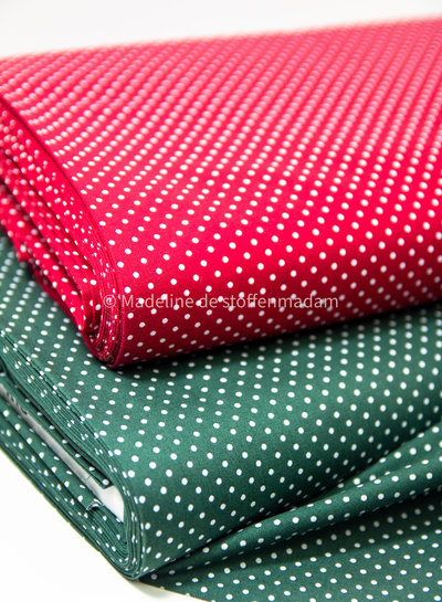 Swafing burgundy judith dots - cotton