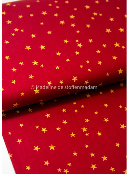 Swafing red  christmas stars - cotton