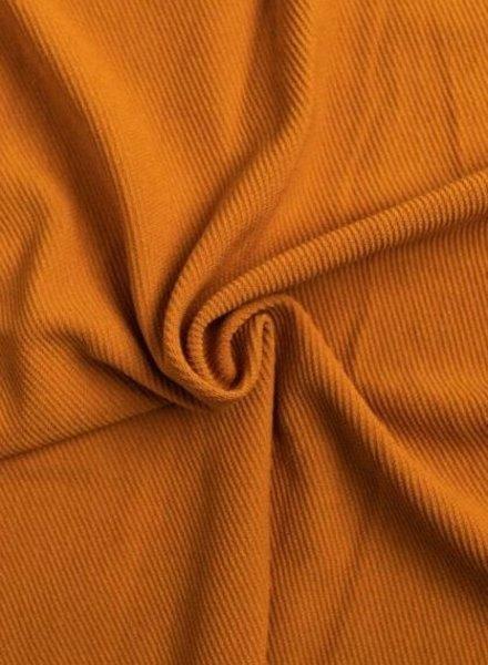 oker - structuur tricot met fijne ribbel