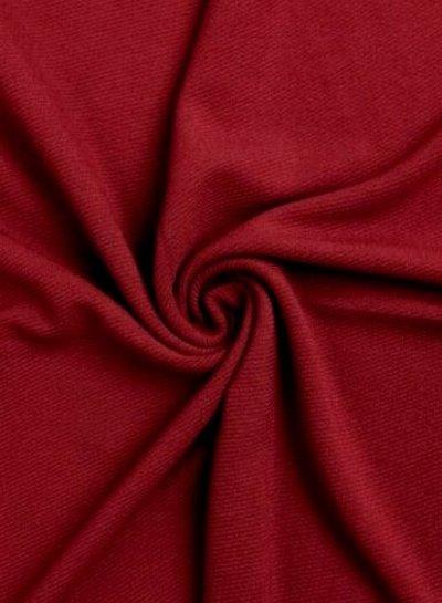 bordeaux - structuur tricot met fijne ribbel