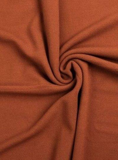 cognac - structuur tricot met fijne ribbel