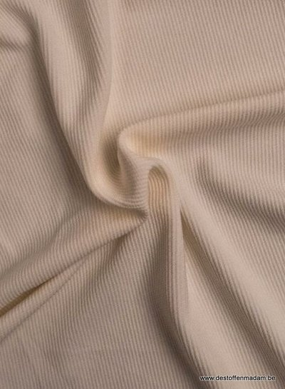 ecru - structuur tricot met fijne ribbel