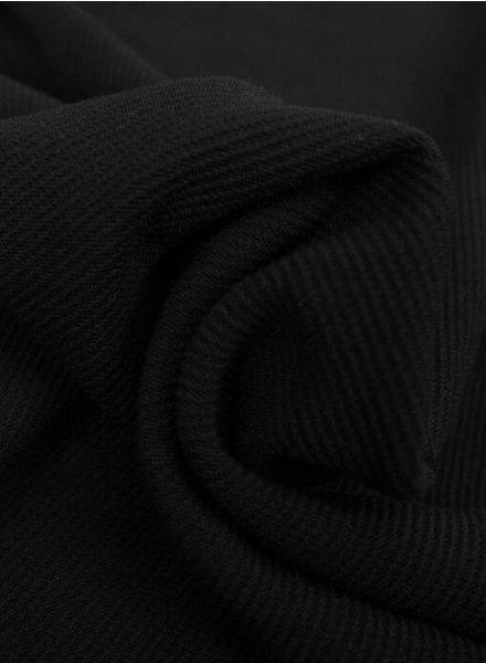 zwart - structuur tricot met fijne ribbel