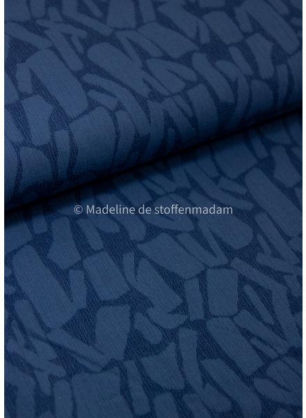 blue bricks - supple linnen jacquard mix