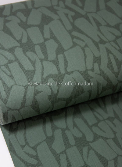 green bricks - soepelvallende  linnen jacquard mix