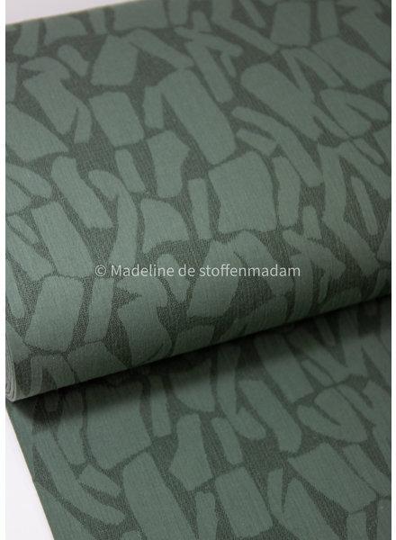 green bricks - soepelvallende  linnen jacquard mix