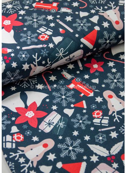 christmas print  - sweater