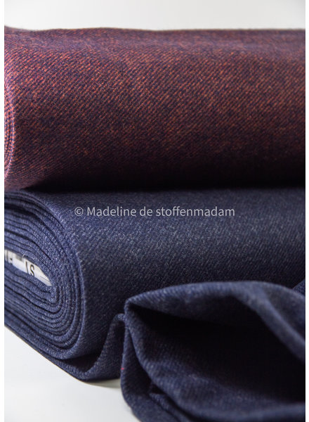 Swafing burgundy Elisa - woolen coat fabric - does not sting