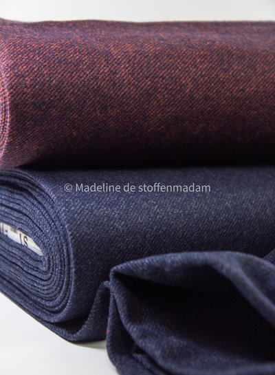 Swafing navy Elisa - woolen coat fabric - does not sting