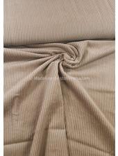 Swafing beige corduroy met brede ribbel - ribfluweel magnus