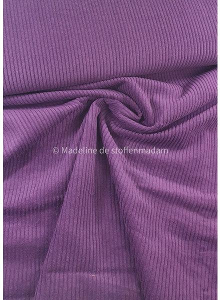 Swafing paars corduroy met brede ribbel - ribfluweel magnus