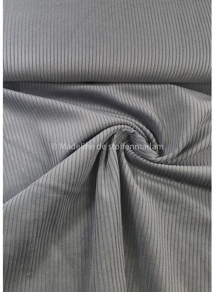 Swafing grey corduroy met brede ribbel - ribfluweel magnus