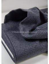 light grey subtle squares - woolen fabric