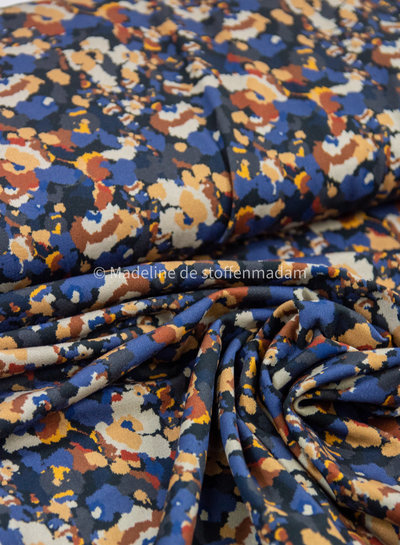 blue artistic print - jersey
