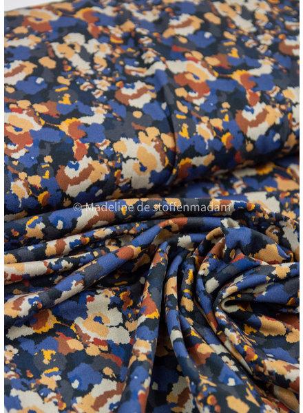 blauw artistieke print  - tricot