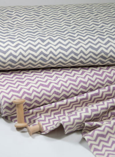 paars chevron  - tricot