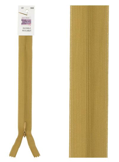 invisible zipper - ochre color 508