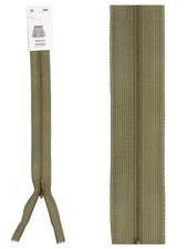 naadrits / blinde rits - khaki bruin kleur 565