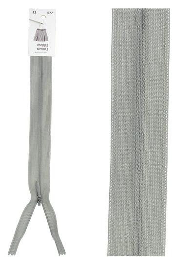 invisible zipper - grey color 577