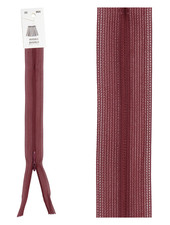 invisible zipper - bordeaux color 864