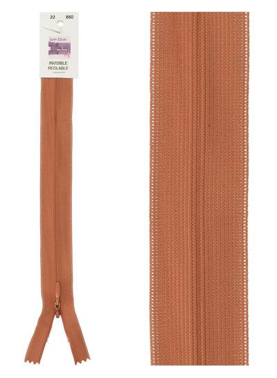 invisible zipper - rust color 850