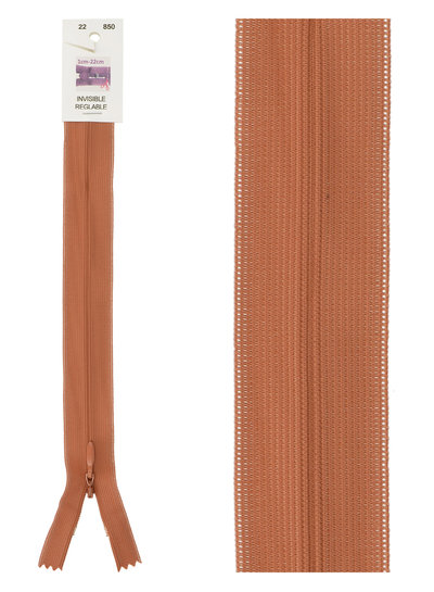 naadrits / blinde rits - roest kleur 850