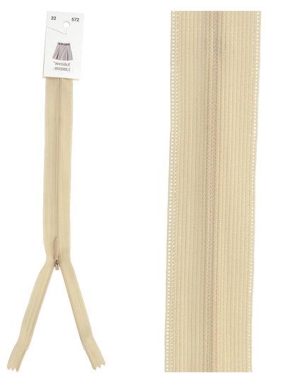 invisible zipper - sand color 572