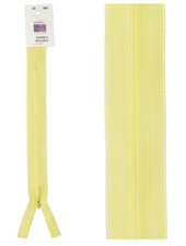 invisible zipper - pale yellow color 573