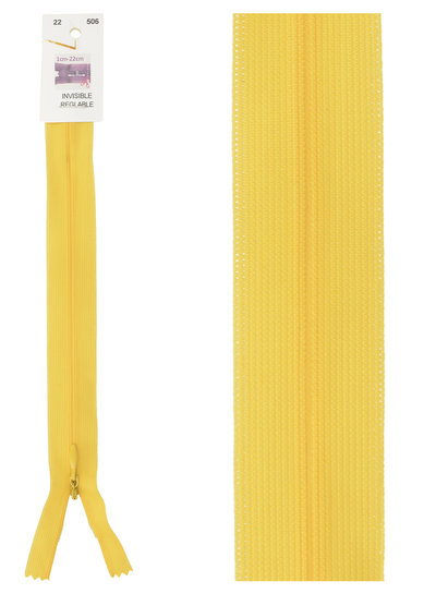 invisible zipper - yellow  color 506