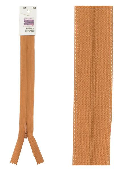 invisible zipper - rust color 808