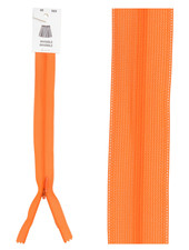 invisible zipper - orange color 523
