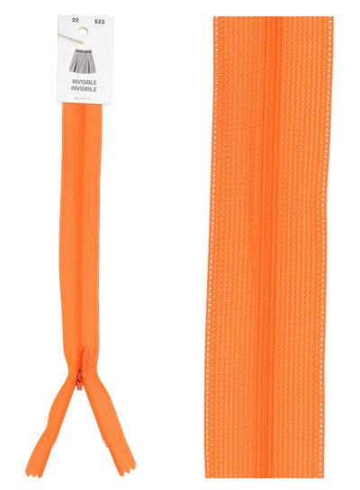 invisible zipper - orange color 523