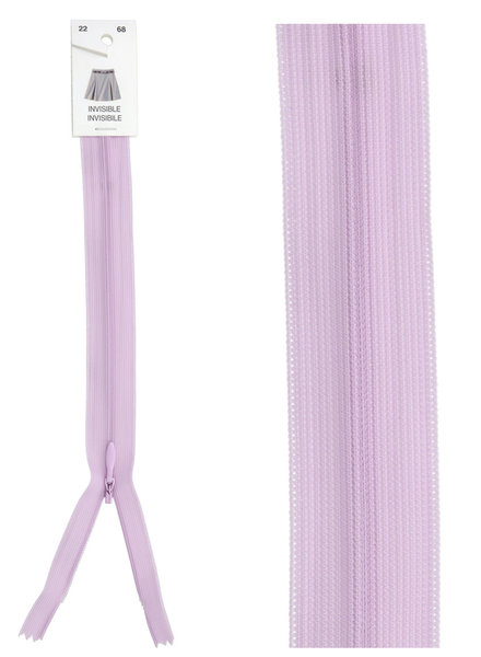 invisible zipper -  lilac color 68