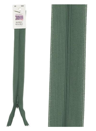 invisible zipper - dark green color 530