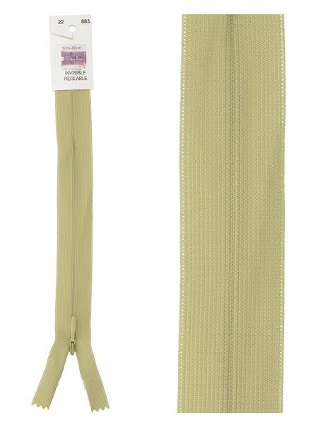 invisible zipper - light khaki color 883