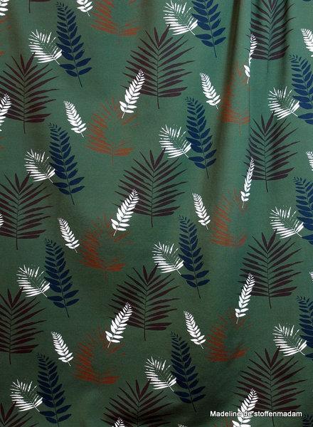 Swafing bottlegreen leaves - jersey