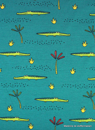 petrol krokodillen tricot