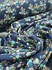 blauw bloemetjes - tricot