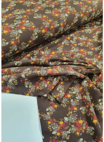 brown flowers - jersey