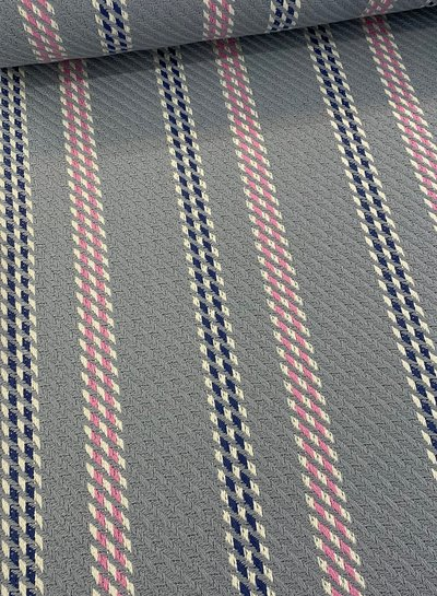 grey and pink woven jacquard deluxe