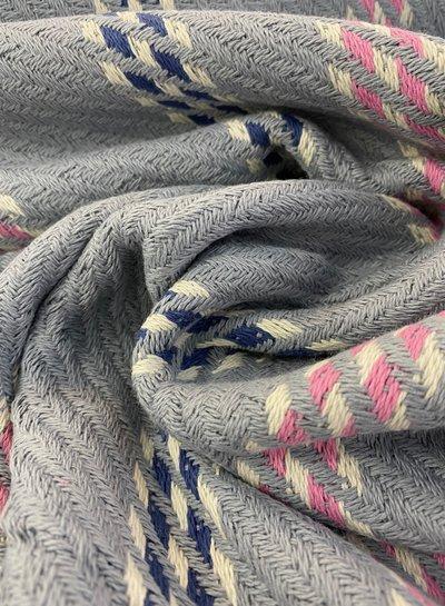 grijs en roze geweven jacquard deluxe